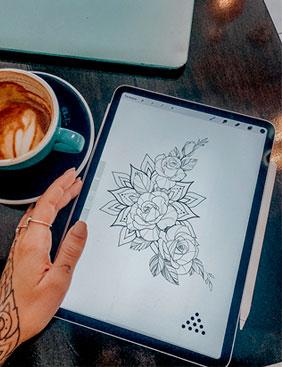 Рисуем на Ipad Pro с Анжеликой